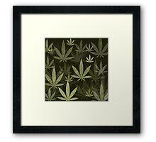 Marijuana Cannabis Weed Pot Pickle Green Background Framed Print