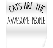 Cats are awesome people  Poster