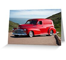 1947 Chevrolet 'Passion Pit' Panel Greeting Card