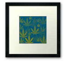 Marijuana Cannabis Weed Pot Indie Colors Framed Print