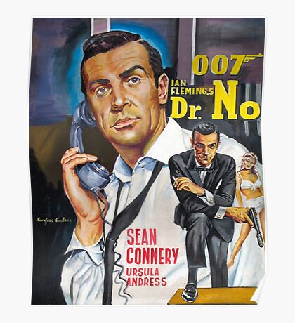 James Bond Sean Connery painting Poster