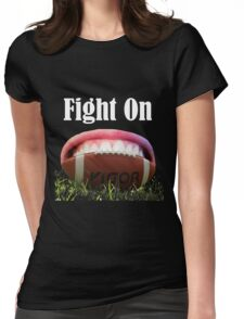 American Football Games -Fight On! Win It Womens Fitted T-Shirt