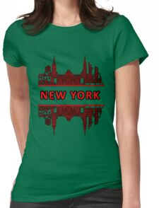 New York - Red Womens Fitted T-Shirt