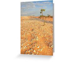 broome sand dune tree Greeting Card