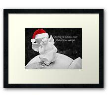 Season's Greetings - Christmas Card Framed Print