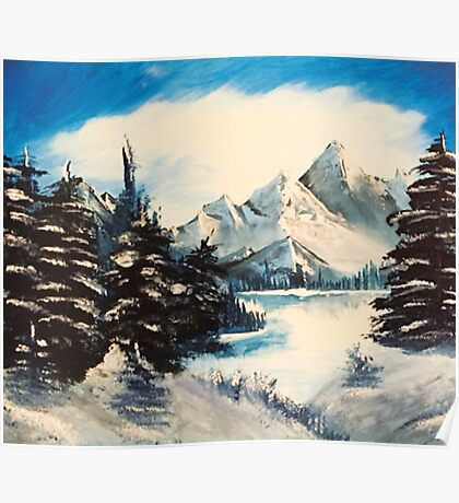 winter mountain  Poster