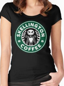 Skellington Coffee Women's Fitted Scoop T-Shirt
