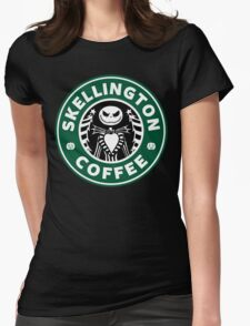 Skellington Coffee Womens Fitted T-Shirt