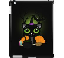 Black Kitten Witch 3 iPad Case/Skin