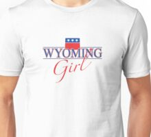 Wyoming Girl - Red, White & Blue Graphic Unisex T-Shirt