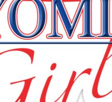 Wyoming Girl - Red, White & Blue Graphic Sticker