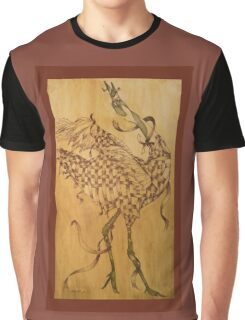 Japanese Snow Crane  Graphic T-Shirt