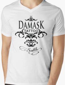 Damask Tattoo Seattle Mens V-Neck T-Shirt