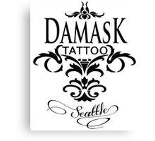 Damask Tattoo Seattle Canvas Print