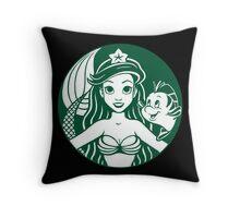 Sirenbucks Throw Pillow