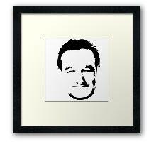 Robin Williams face Framed Print