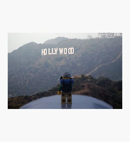 The Lego Backpacker does Hollywood Photographic Print