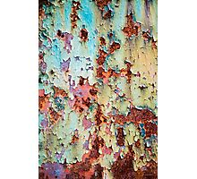 Abstract Paint Peeling Photographic Print
