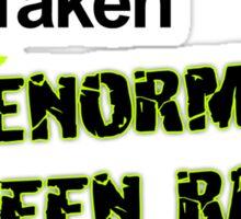Single, Taken, ENORMOUS GREEN RAGE MONSTER Sticker