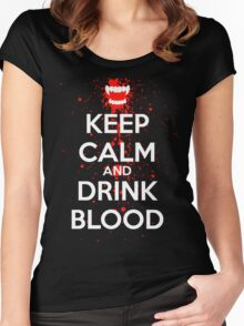 Keep Calm and Drink Blood Women's Fitted Scoop T-Shirt