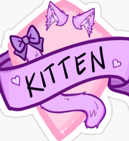Kitten Badge Sticker