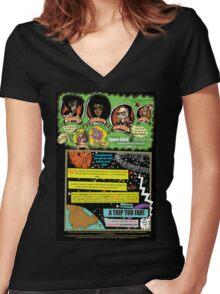 Tex Watt's  (UNCENSORED) SUNDAY COMIX POP-ART: Page #1  Women's Fitted V-Neck T-Shirt