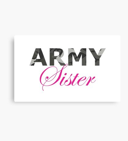 Army Sister Canvas Print