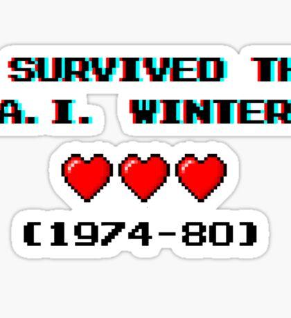 I survived the A.I. winter (8-bit 3D) Sticker