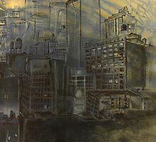 Sandstorm City by scaffyscribbler
