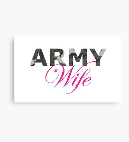 Army Wife Canvas Print