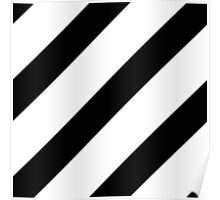 Black Diagonal Pattern Poster