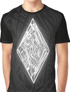 Zen Doodle Diamond Black White Glow Graphic T-Shirt