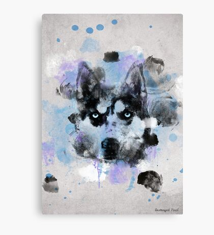 Watercolor Husky Canvas Print