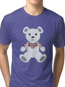 Haida tattooed teddy bear Tri-blend T-Shirt