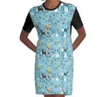 Winter Friends  Graphic T-Shirt Dress