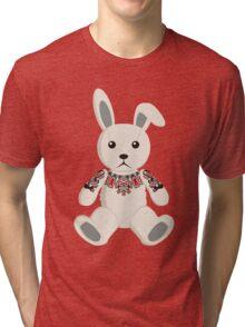 Haida tattooed bunny rabbit Tri-blend T-Shirt