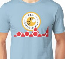 Red Polka Dot 2013 L'Etape du Tour Mountain Profile v2 Unisex T-Shirt