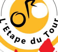 Red Polka Dot 2013 L'Etape du Tour Mountain Profile v2 Sticker