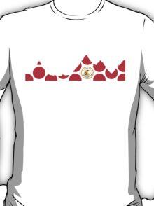 Red Polka Dot 2015 L'Etape du Tour Mountain Profile T-Shirt
