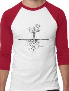 Tree vector Men's Baseball ¾ T-Shirt