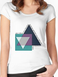 Hipster Triangle Women's Fitted Scoop T-Shirt