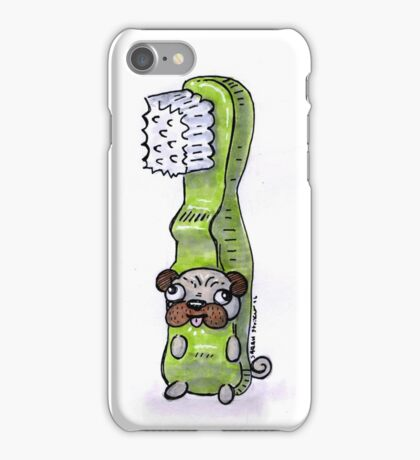 Pug in a Toothbrush Costume iPhone Case/Skin