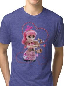Cupid Red Hearts Tri-blend T-Shirt