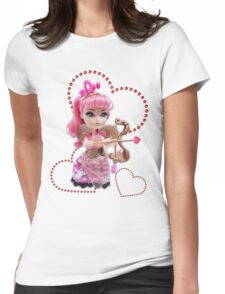 Cupid Red Hearts Womens Fitted T-Shirt