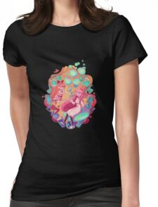 Babes with Brains Womens Fitted T-Shirt