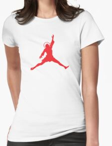 Air Jesus Solo by Tai's Tees Womens Fitted T-Shirt