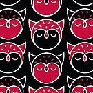 Owl Pattern Vertical by Mariya Olshevska