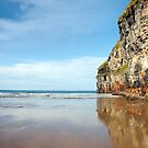 high cliffs of Ballybunion on the wild atlantic way by morrbyte