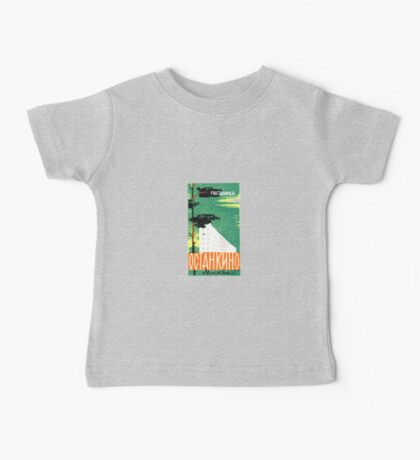 Hotel Octahknho Moscow Russia Vintage Travel Decal Baby Tee
