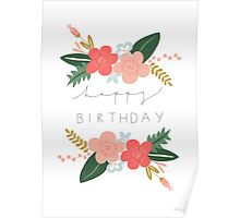 Fiona Happy Birthday/Greetings Card Poster